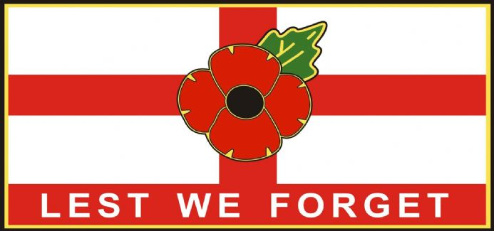 Poppy Lorry/Van Sticker - St George Lest We Forget - Extra Large Size
